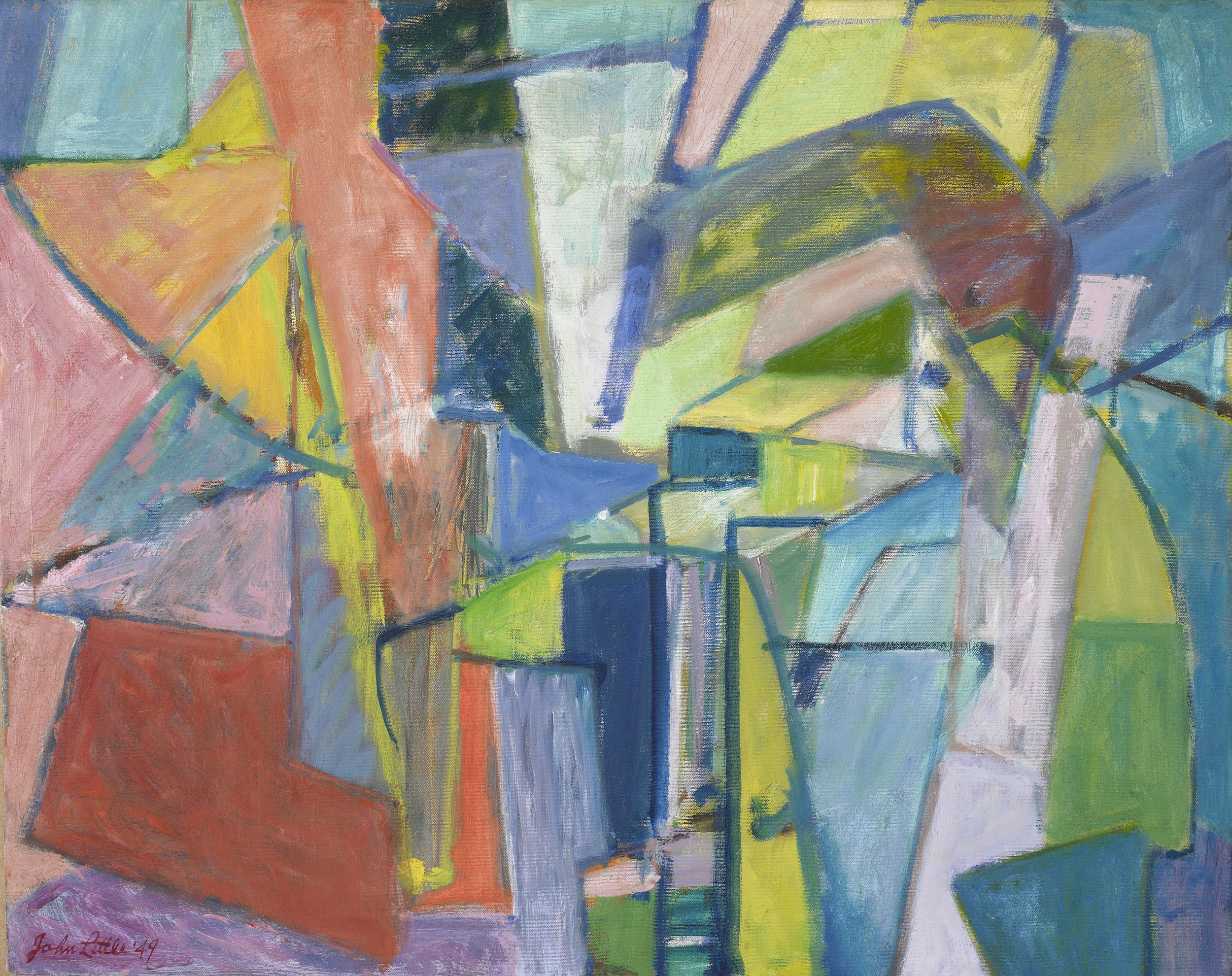 Forrest , Oil on canvas mounted on white wood, 1949, 24 x 30 inches
