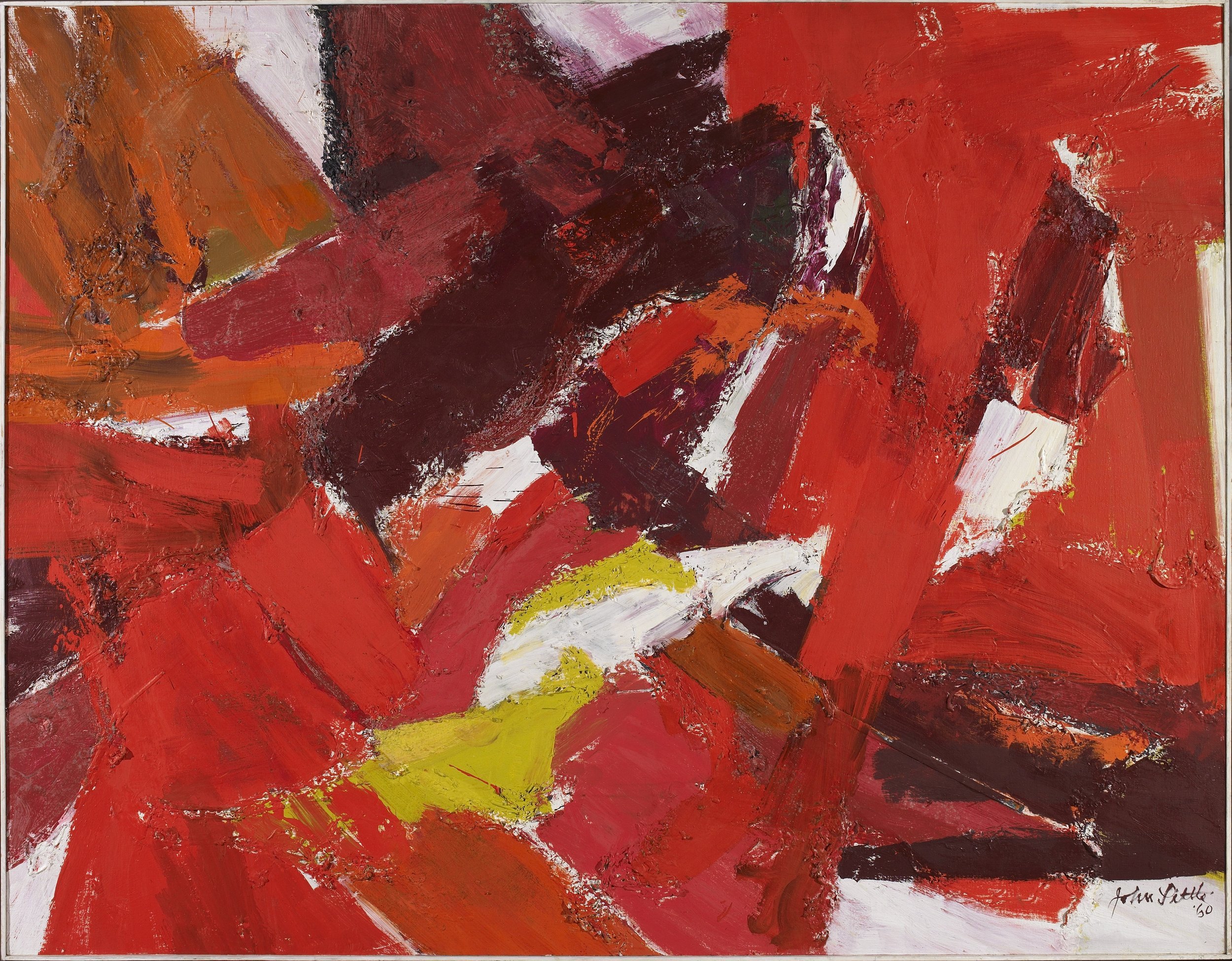 Tropic of Cancer II,  Oil on canvas, 1960, 48 x 76 inches