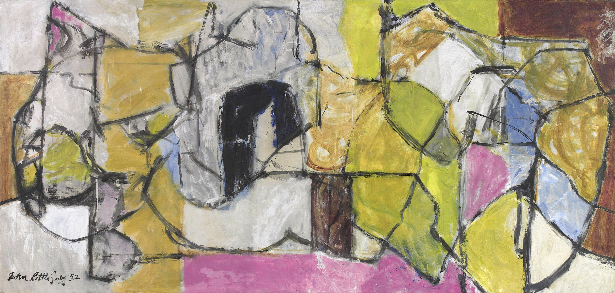 Untitled  , Oil on canvas, 1952, 42 ½ x 86 ½ inches