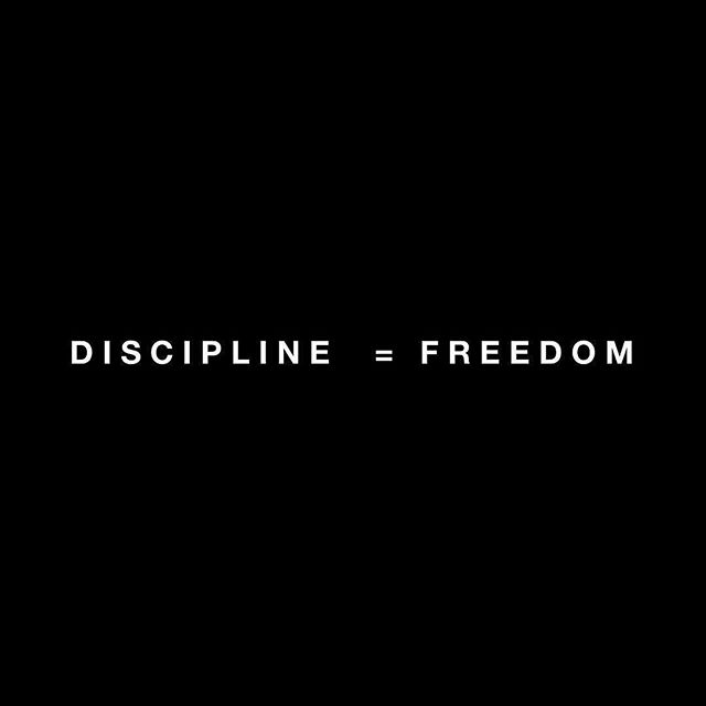 "Simple formula for life right here. #thebarbellceo  _________ @jockowillink preaches this, and it couldn't be more true. In the past I have been asked how one can handle so much. While I'm no superstar at everything that I attempt to do, I am a huge believer in the above statement and know it has a lasting impact on most of my process. Thanks @jockowillink. _________ Whether it's running a business, weightlifting, fitness and stretching 7+ hours a week, coaching college atheltes, writing 30 articles a month (over 30,000 words), spending time with family, traveling the world, spending time with friends, building personal finances, and creating opportunities...it all takes discipline. The more disciplined you can develop... the greater freedom you will have in your day to day, finances, and life. _________ To reiterate some easy steps (well not easy or everyone would do them). Many of you will overthink this, however you know when you are being lazy... so act, don't overthink. 1. Get up earlier 2. Workout (or do something physical) every day 3. Eat healthier 4. Say NO to people and ""things to do"" that leach energy from you, and more importantly do not fall in line with what your goals are. This is a huge one. Nobody has time for dead ends. 5. Every day, have 4 hours of tasks scheduled, and every day attack those with purpose. This does NOT include the first 4 steps...those are given and start before your work day. 6. Every day, leave a few hours open to adapt to the day. Take on a call, answer emails, and leave a margin for error or unexpected things (but say NO to those if they don't align with step 3). 7. Stay humble. _________ #jockowillink #discipline #freedom #hardwork #crossfit #weightlifting #getshitdone #entrepreneur #selfmade #opportunity #success #lifegoals #workout #squat #powerlifting #businesscoach #business #workhard #liftheavy #squadgoals #jockopodcast #jocko #powerfulquotes #powerful #lifestyle #progress #fitness #writer #coach"