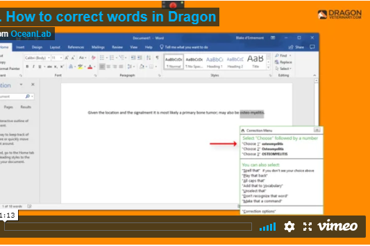 TUTORIAL #9 PROPERLY CORRECTING WORDS IN DRAGON   This tutorial covers how to properly correct words in Dragon in the event that Dragon has made a mistake in your dictation.