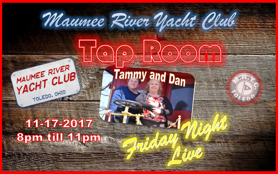 It's almost Friday Night, that means it's almost time for MRYC Friday Night Live!! Friday (11-17) we will be featuring Tammy and Dan in the TapRoom for an evening of fun and entertainment! Must be an MRYC or AYC member or guest of member to attend.