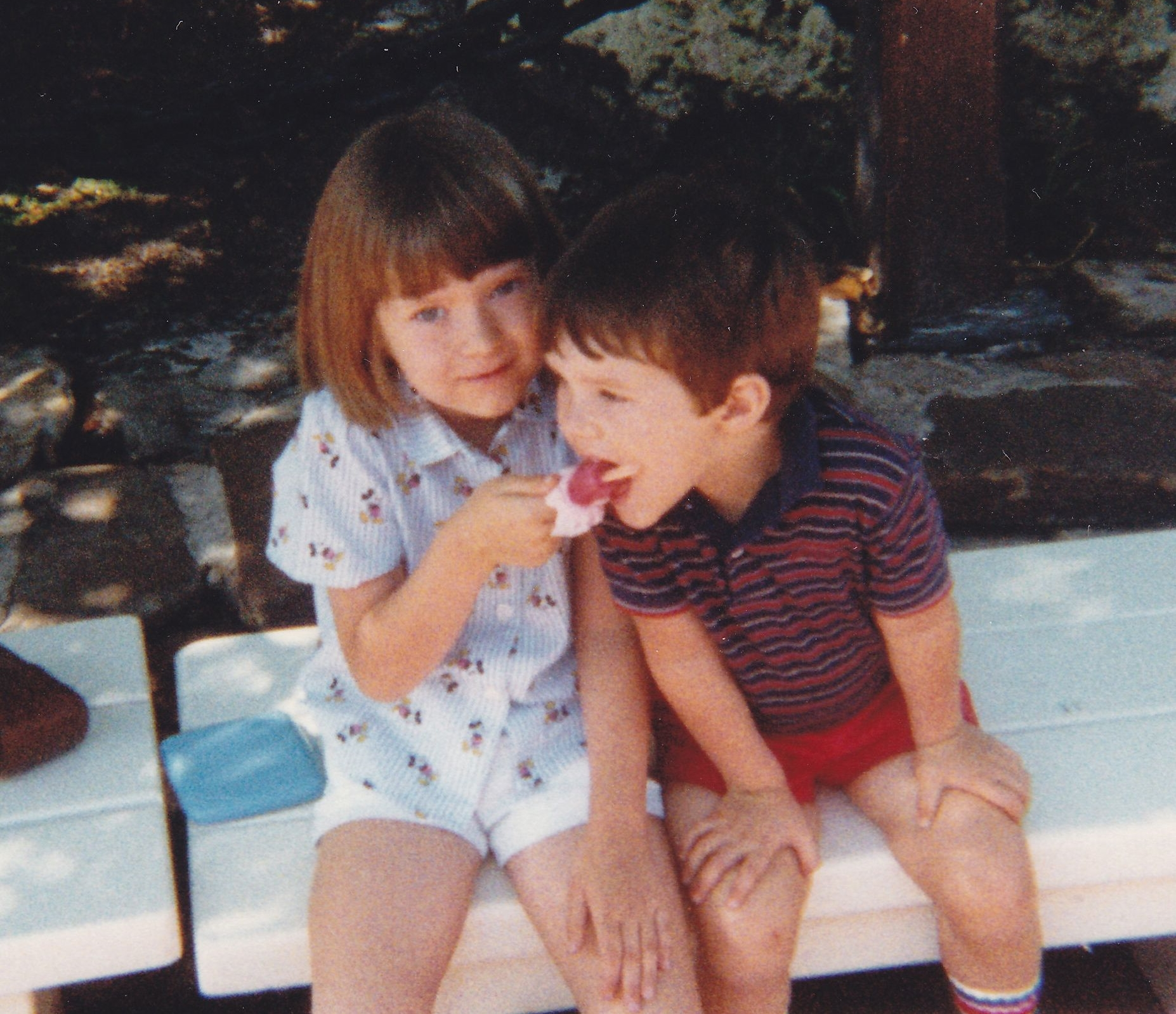 My love of popsicles began at an early age.