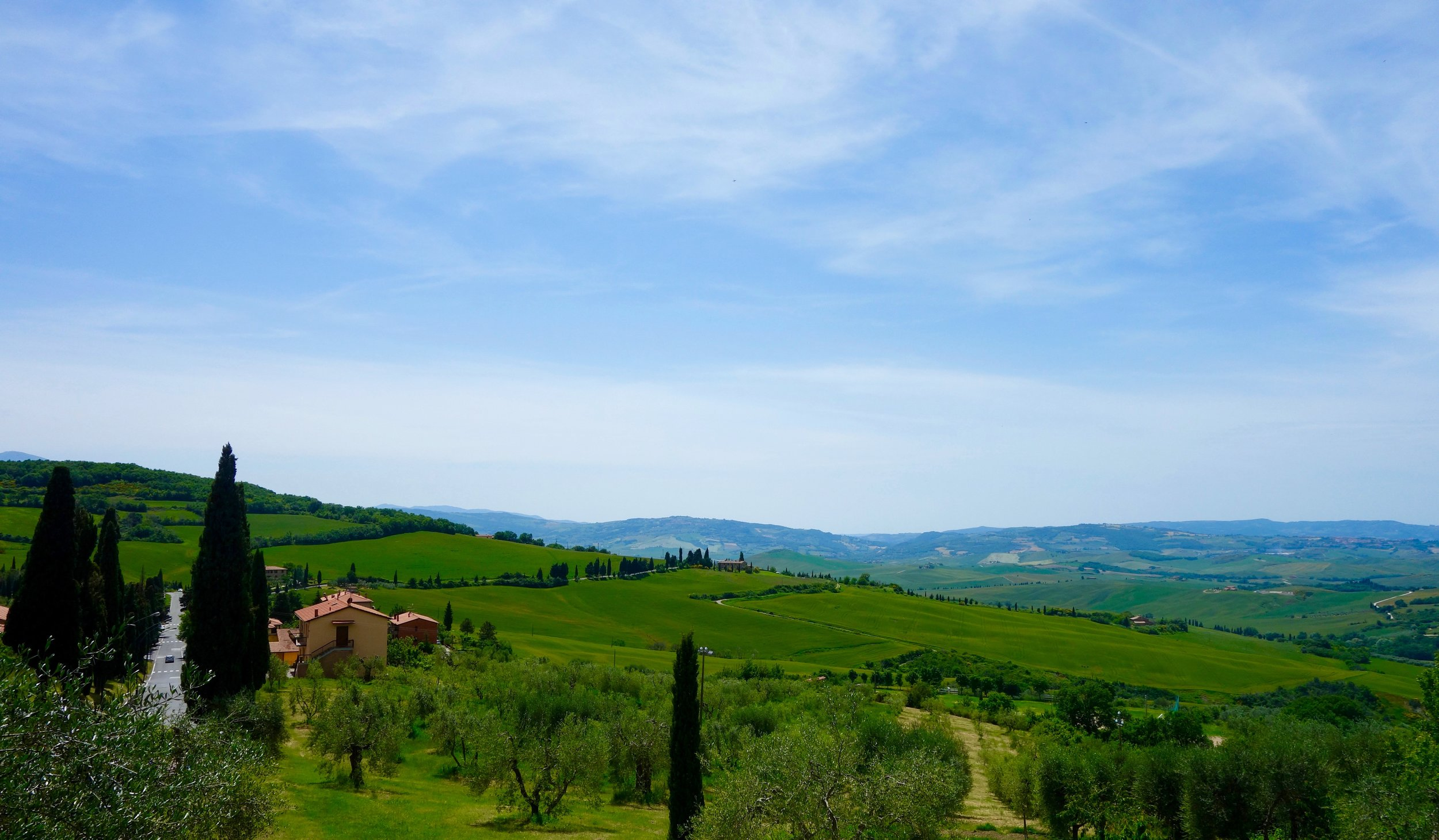 Monticchiello, Tuscany (our villa was the one in the center of this picture).