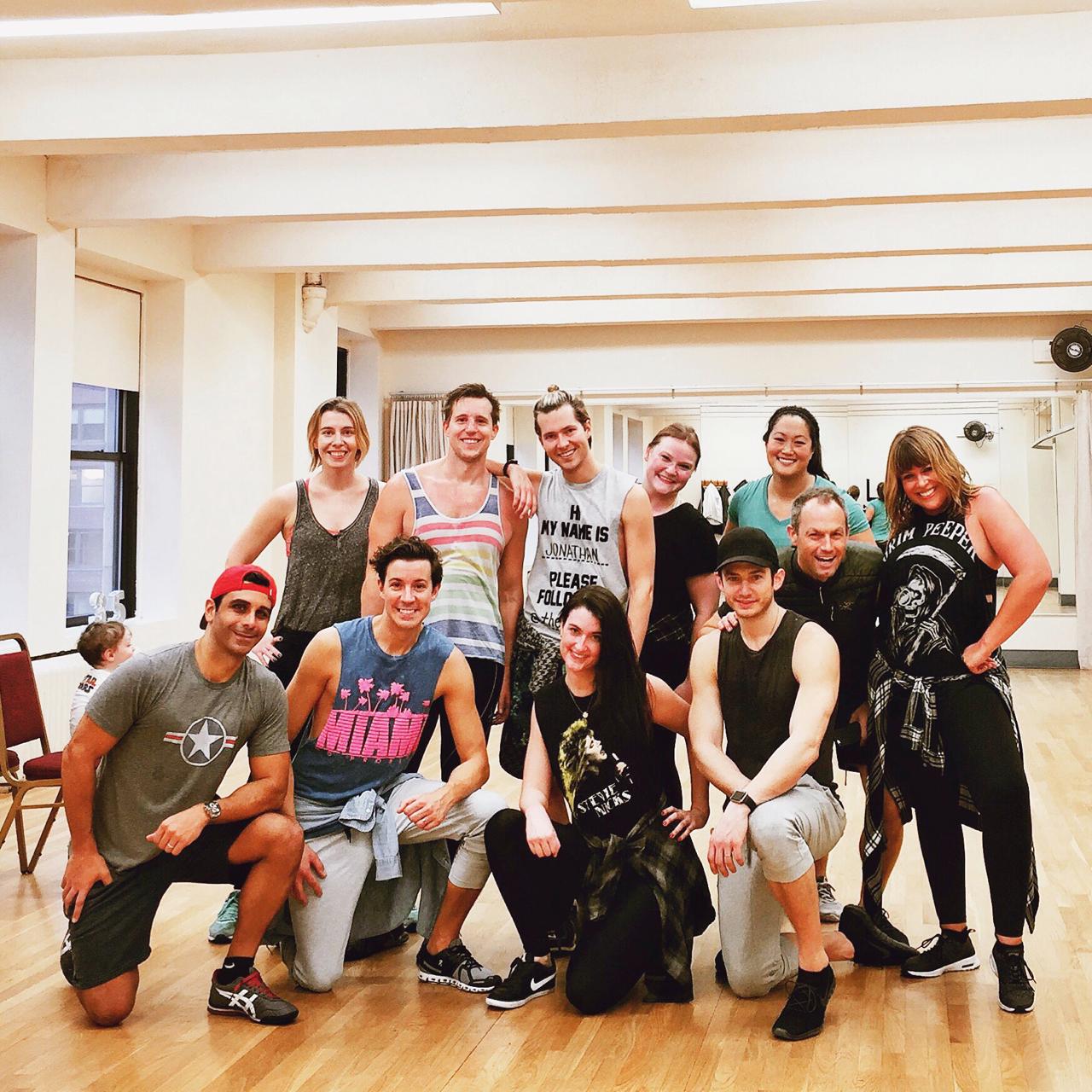 Hip-hop dance squad.