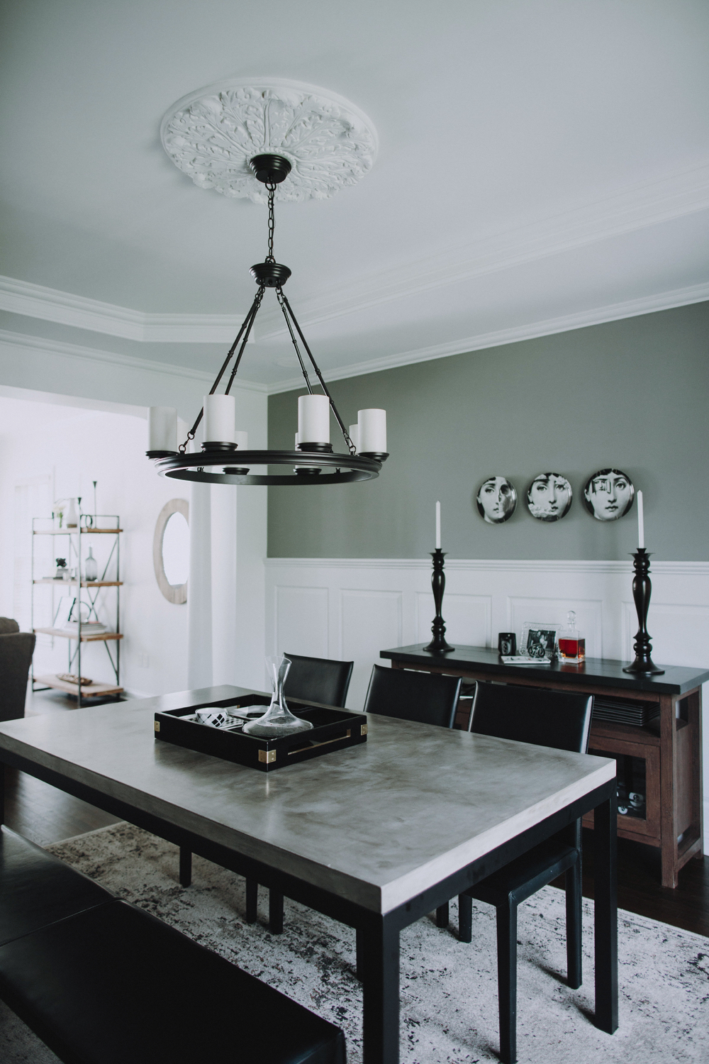 SPACES BY STEINITZ Family Neutral Home Dining Room