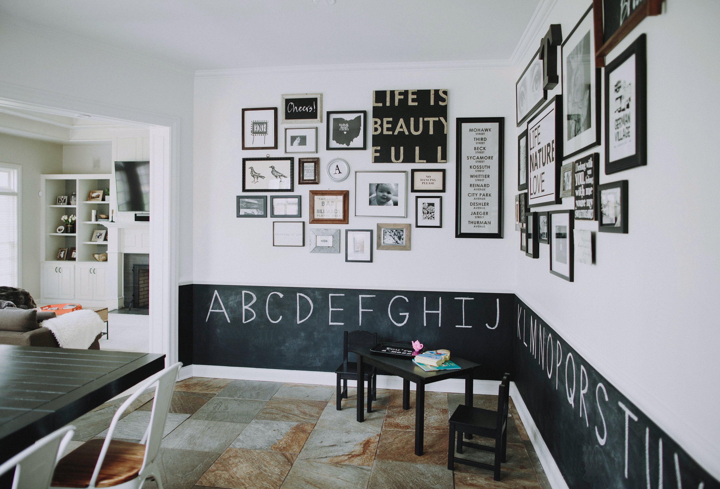 SPACES BY STEINITZ Neutral Family Home Gallery Wall
