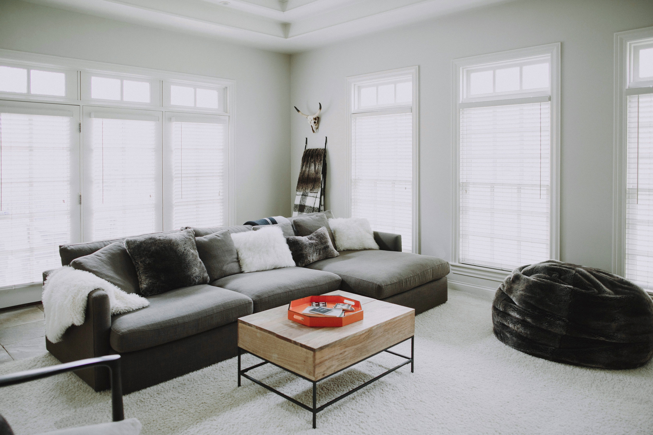 SPACES BY STEINITZ Neutral Family Home Living Room