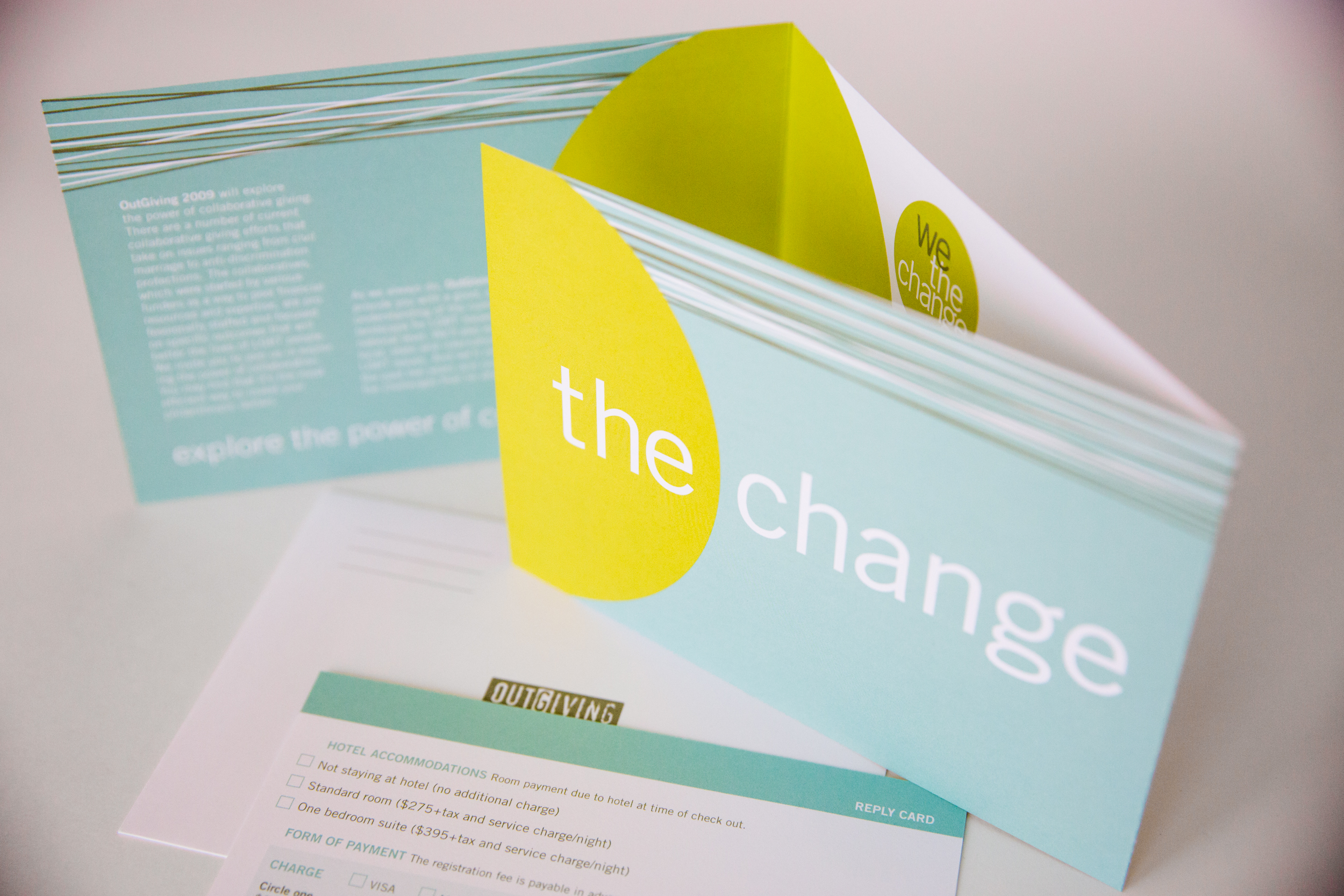 """""""We the Change"""" Outgiving Event invitation"""