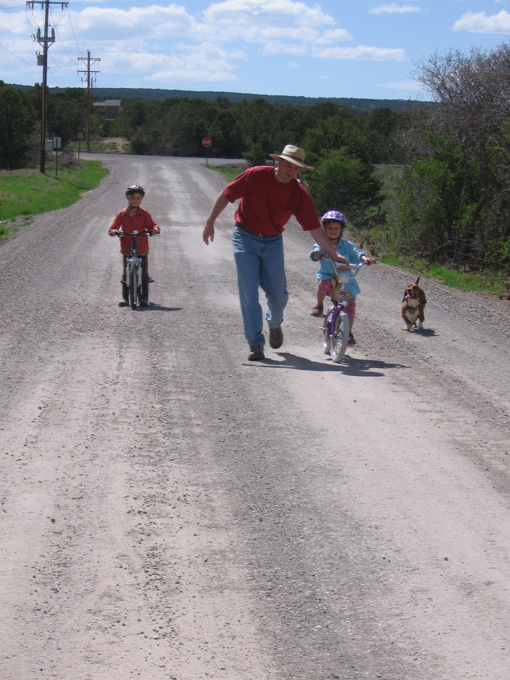 Learning to Ride a Bike on a Dirt Road 009