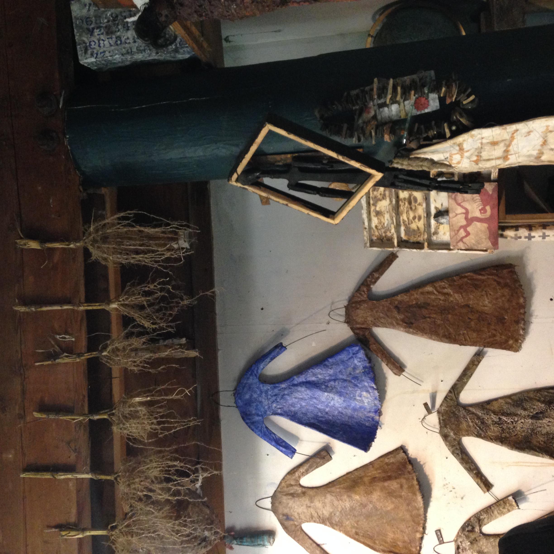 Larry Calkin's studio