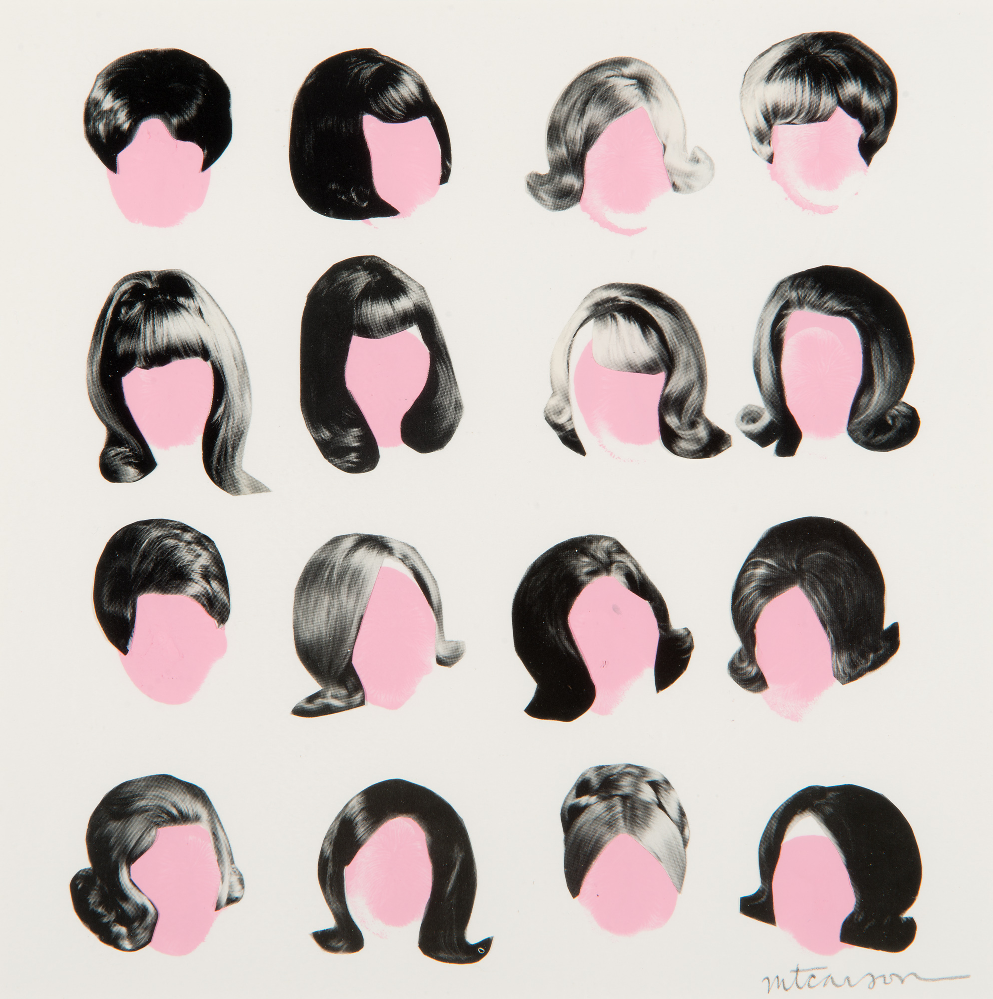"""Beauty Parlor Parade, 8"""" x 8"""", collage and acrylic on paper"""
