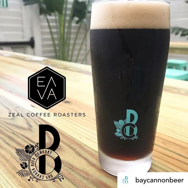 Happy to have such cool friends in the neighborhood!  Posted @withrepost • @baycannonbeer 🔺NEW BEER ALERT🔺 We collabed with local coffee legends @zealcoffeeroasters @thelabcoffeetampa for this Coffee Stout. They curated a special blend just for us! Visit our tap room and try it while it's still here! ☕️ #brewery #brewpub #westtampa #tampalocal #beerfood #craftbeer #beerlovers #sunshine #floridabeer #summer #crushablecraft #craftbeers #craftburger #tampabrewery #coffeestout #craftcoffee #tampacoffee #tpacoffee