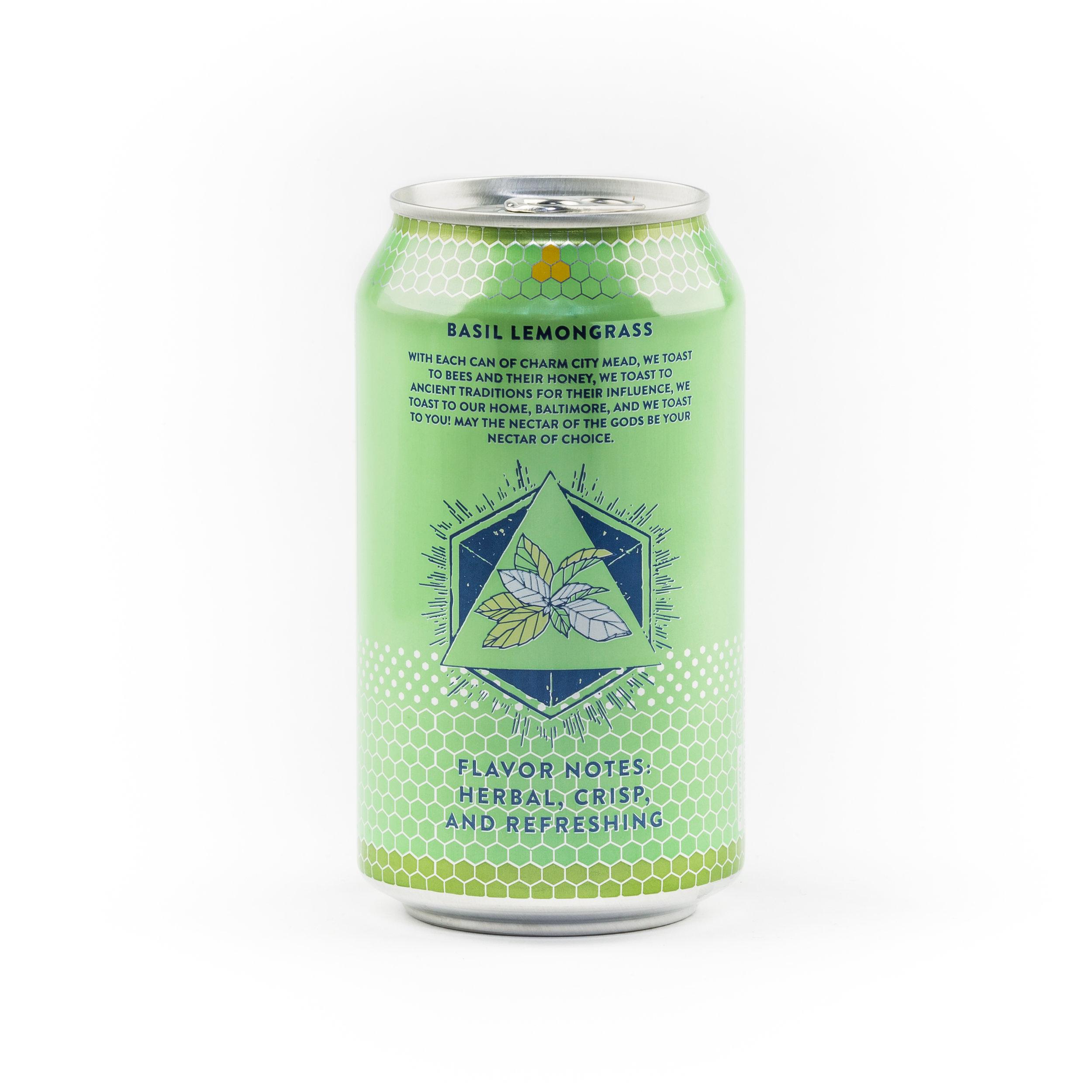 Basil Lemongrass Sparkling Canned Draft Mead