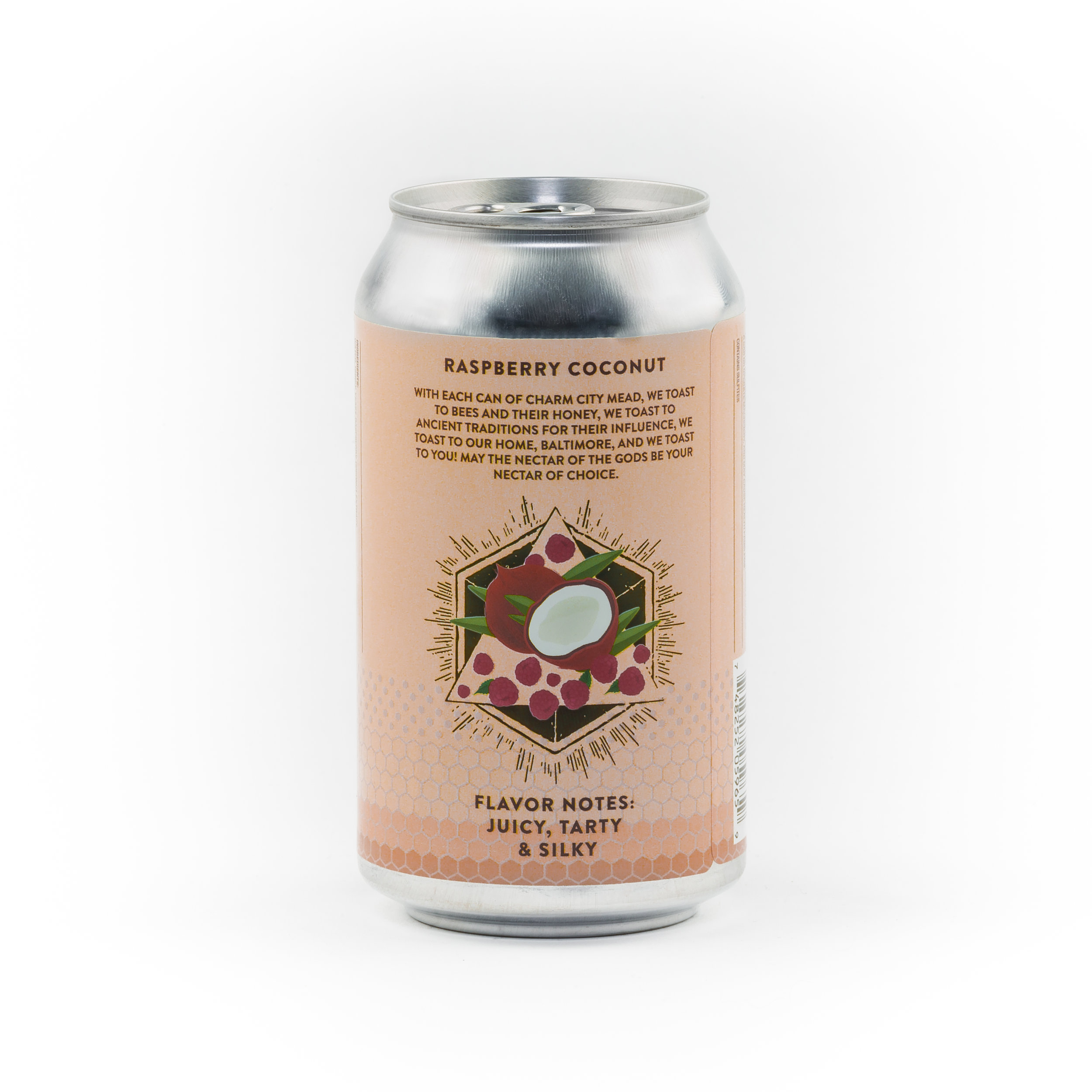 Sparkling Canned Raspberry Coconut Summer Mead