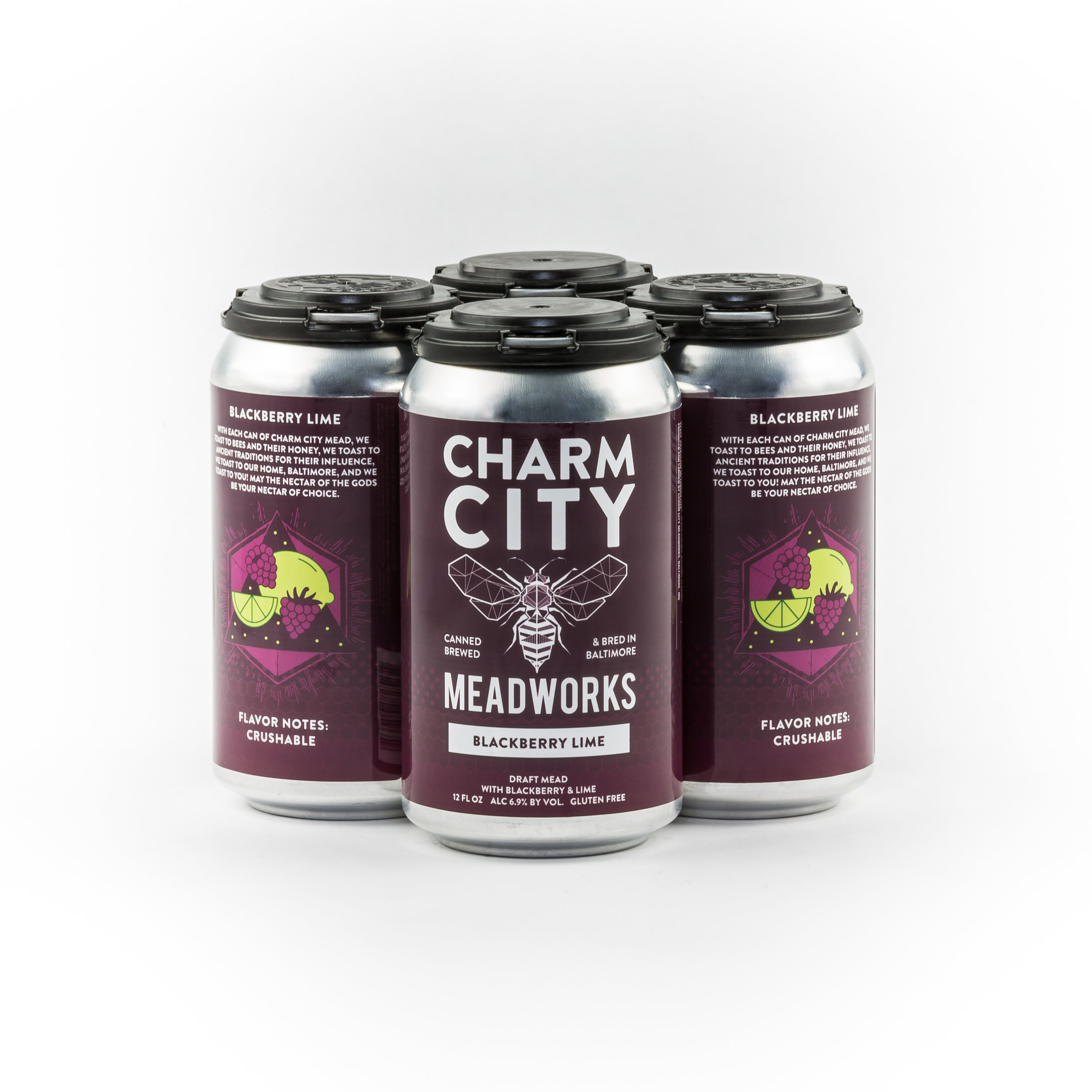 Blackberry Lime Sparkling Canned Draft Mead