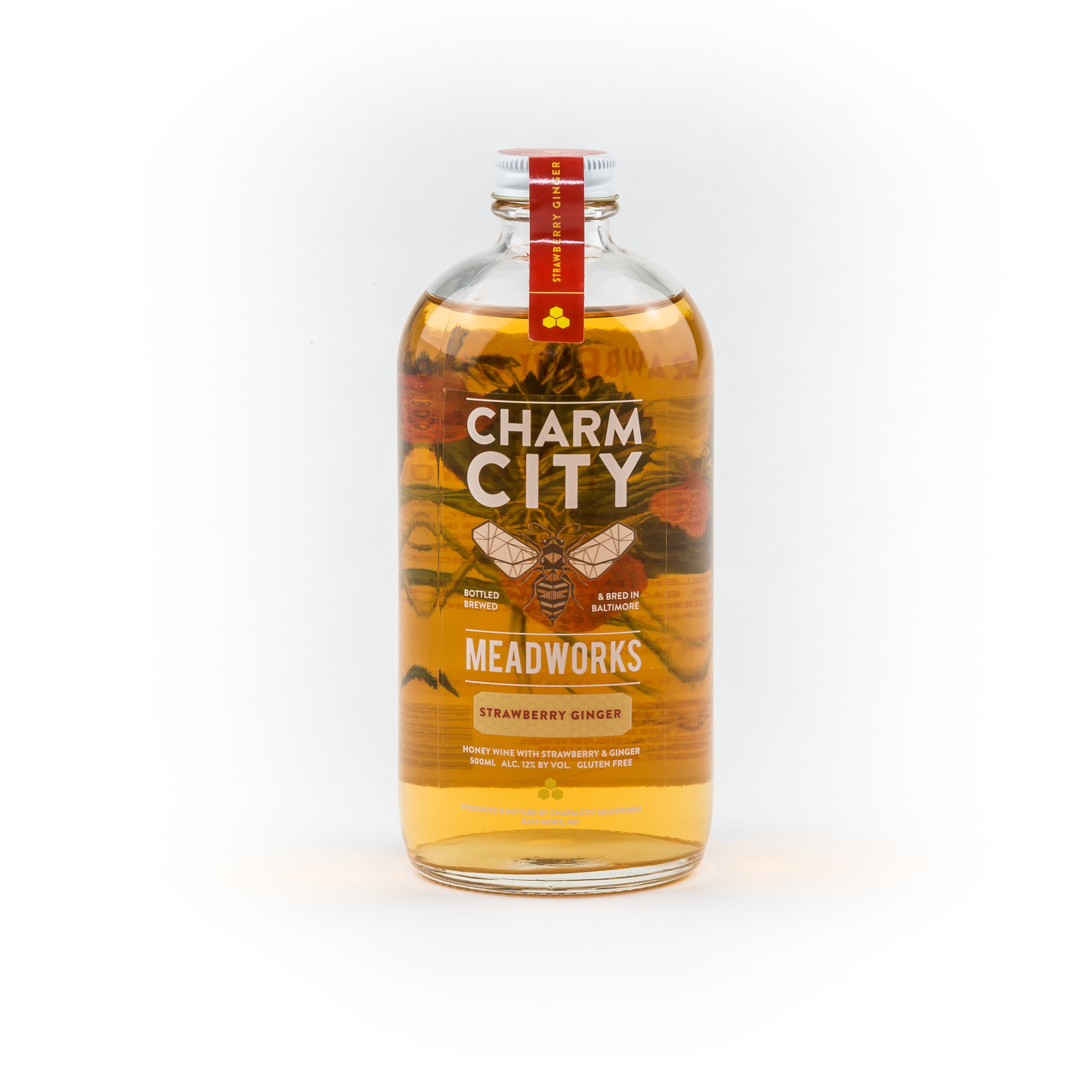 Image result for CHARM CITY MEAD STRAWBERRY GINGER