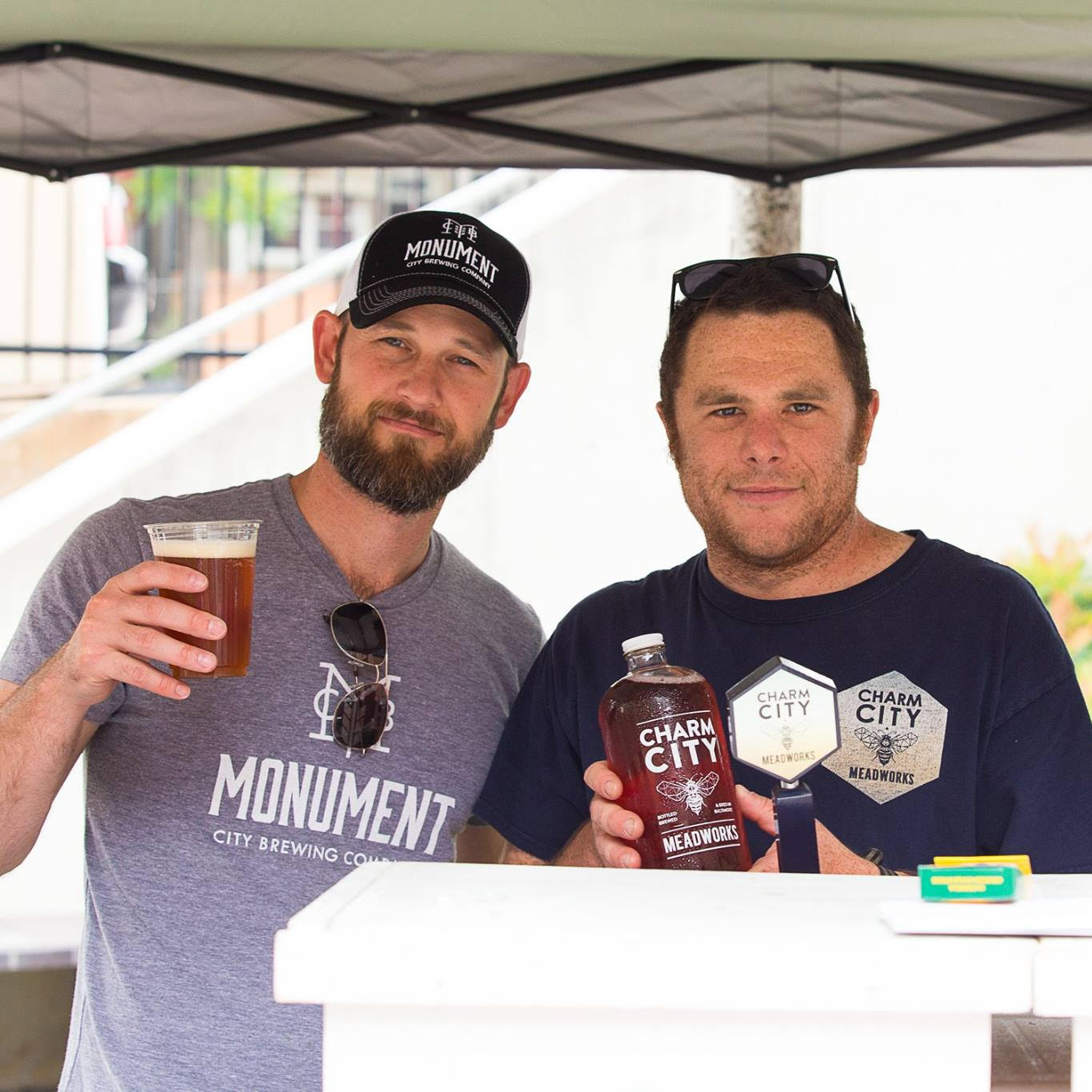Co Owners of Monument City Brewing and Charm City Meadworks hanging out