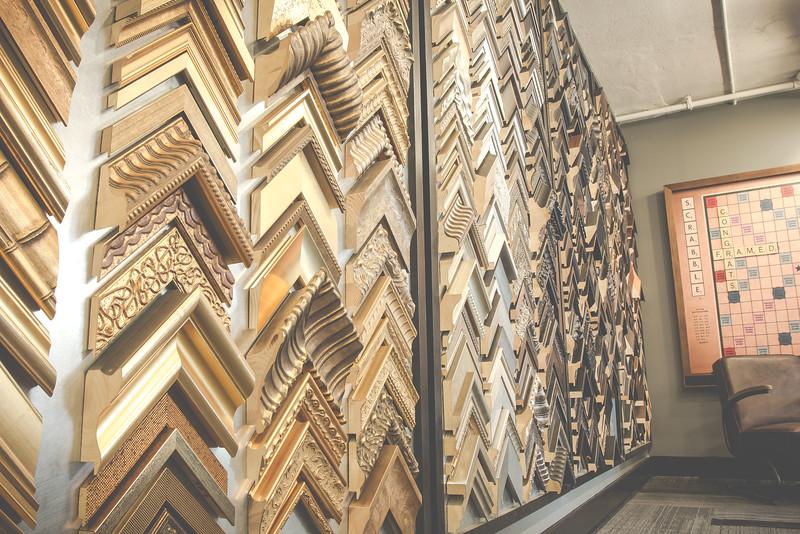 Frame Wall at Framed