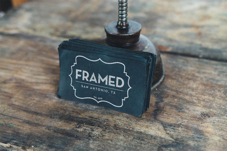 Framed Business Cards