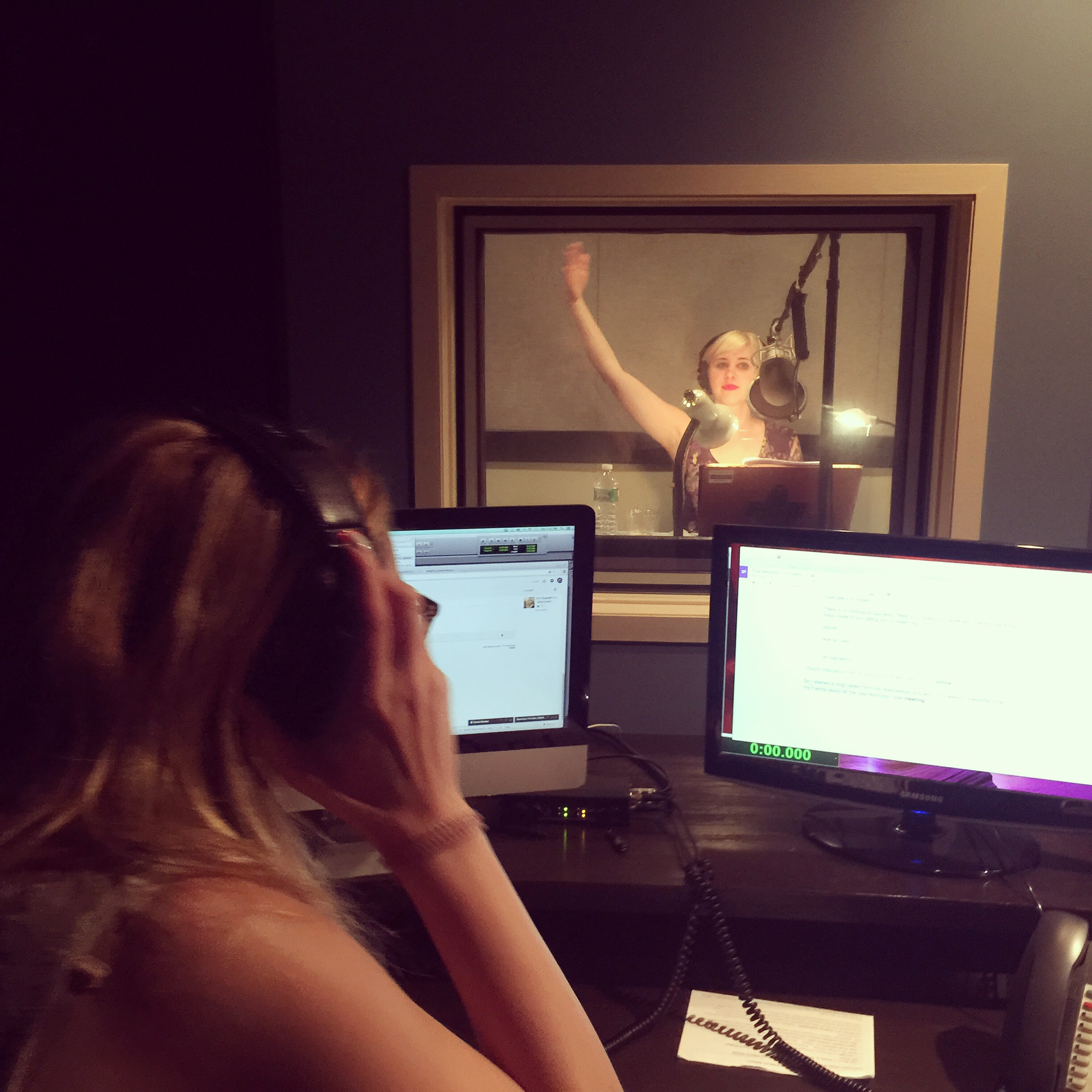 In the DuArt sound booth with Lauren - the amazing angel of a human!