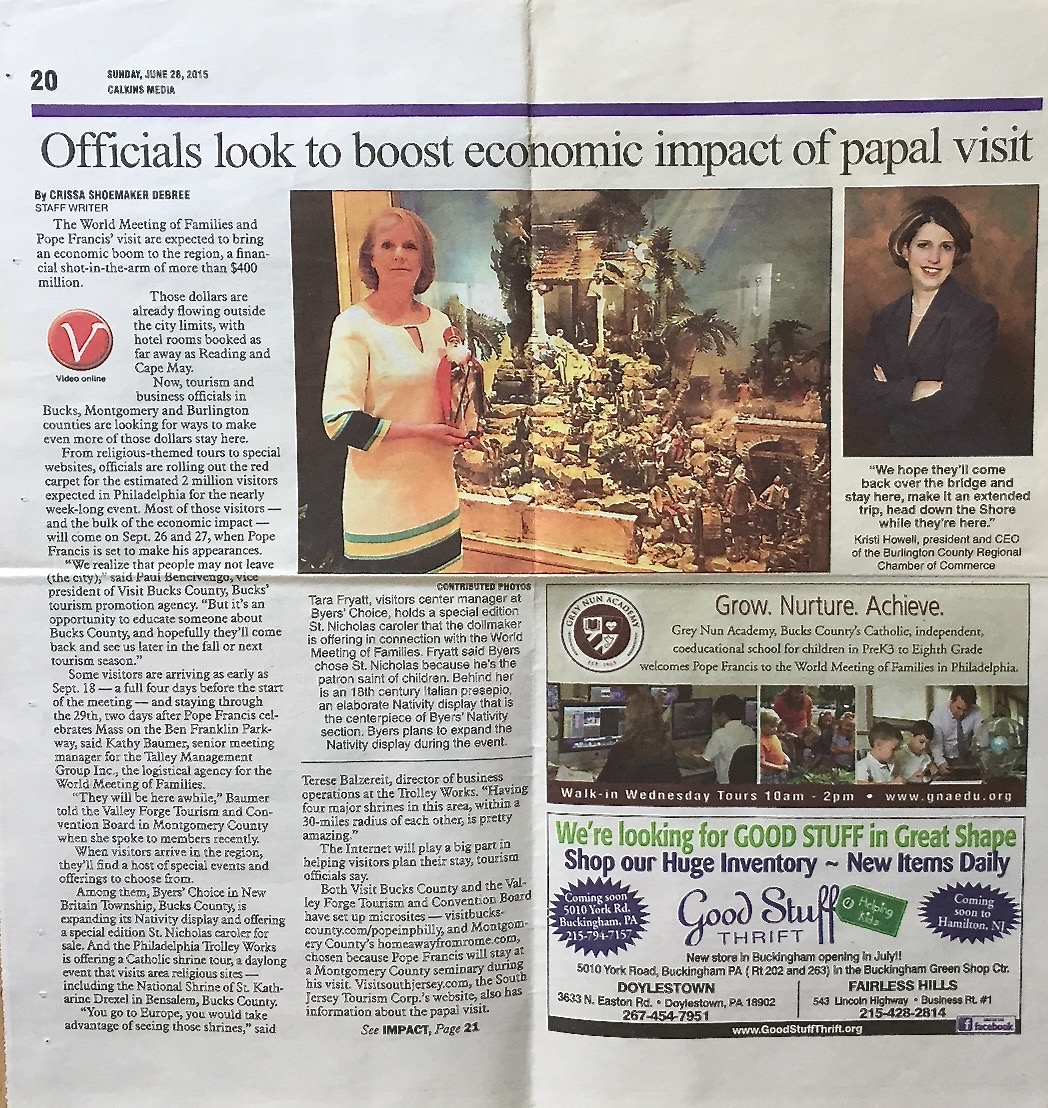 Navidad featured in article about the Special Exhibition in honor of the Philadelphia visit Pope Francis.