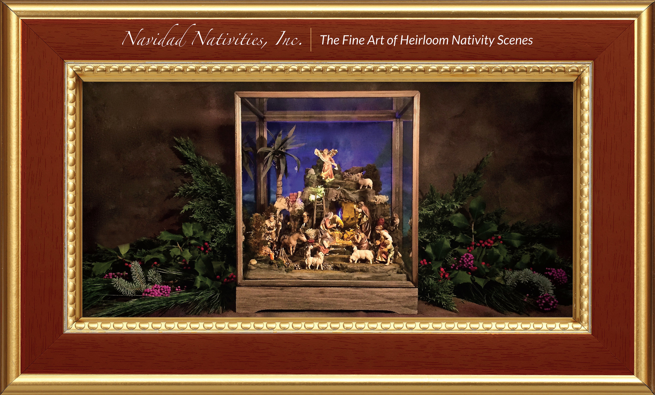 Promotional lobby poster.Navidad Nativities was invited to be a participant/exhibitor at the U.S. Conference of Bishops (cardinals, archbishops and bishops) in Baltimore in November of 2016. Sincere thanks to the St. Jude Liturgical Arts Studio.