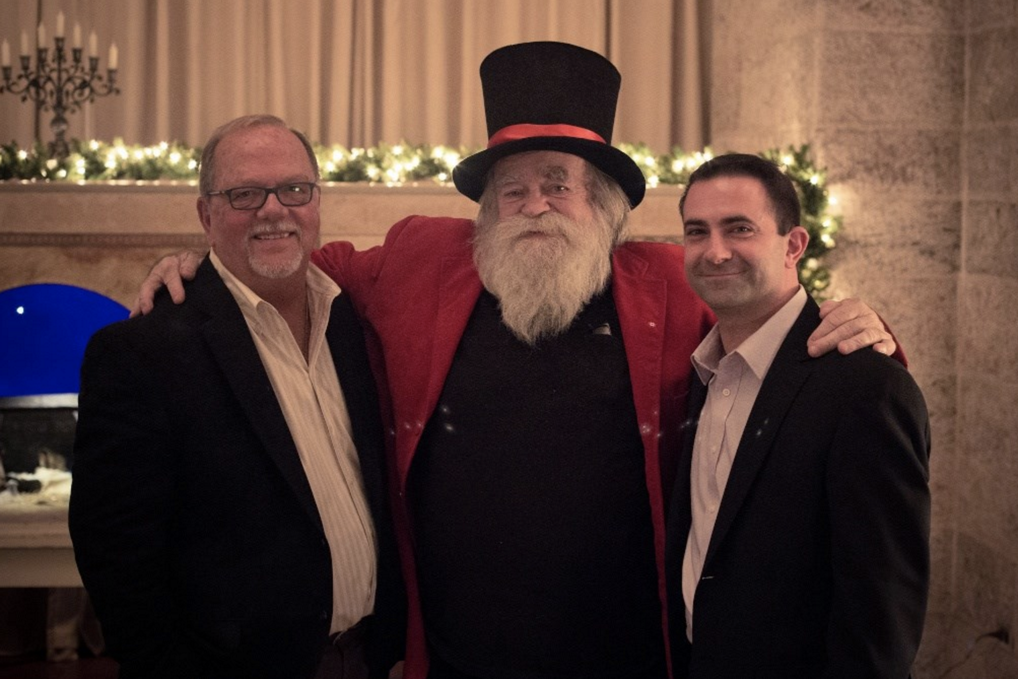 Michael and A.J. join in the festivities at Glencairn Museum with Jim Morrison, president at The National Christmas Center in Lancaster Pennsylvania