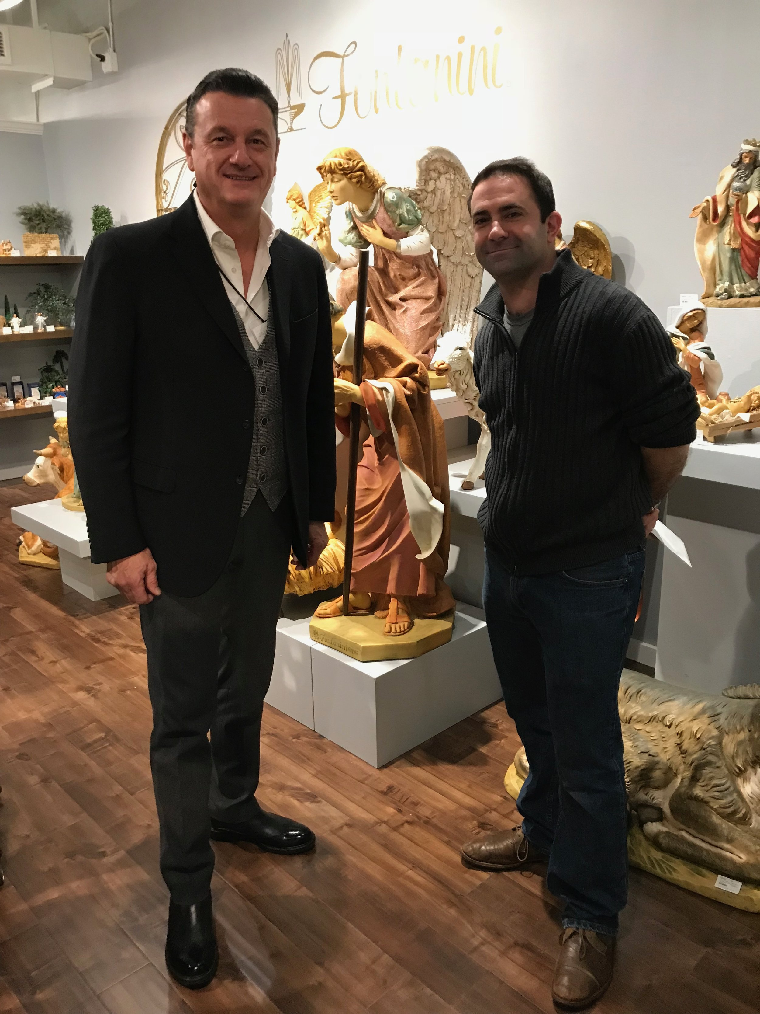 A.J. meeting with Emmanuel Fontanini