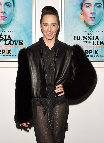 Olympic figure skater Johnny Weir at the New York City screening of the EPIX Original Documentary, 'To Russia With Love.'