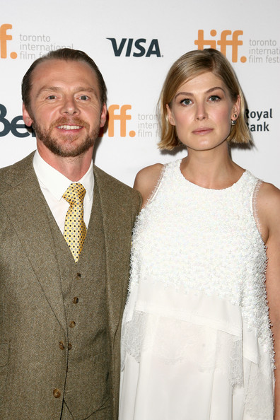 Simon Pegg and Rosamund Pike attend the 2014 Toronto International Film Festival for their film 'Hector and the Search for Happiness.'