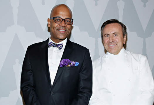 Patrick Harrison and Daniel Boulud at The Academy of Motion Picture Arts and Sciences official Oscar Night New York viewing party.