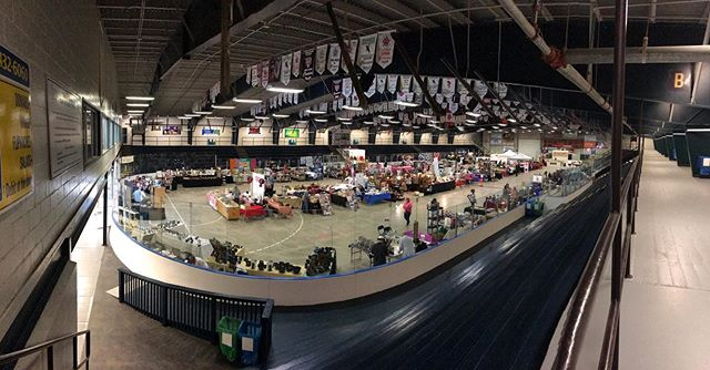The 2019 indoor market vendors are ready for the first day of the 34th Atlantic Balloon Fiesta! Come check them out in the 8th Hussars all weekend!
