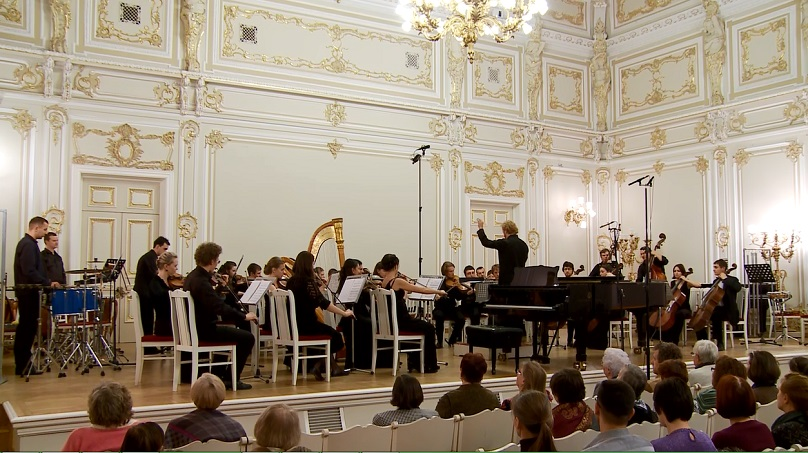 Jeffery Meyer conducts the premier of  Cataclysm  in Glinka Hall, St. Petersburg, Russia.