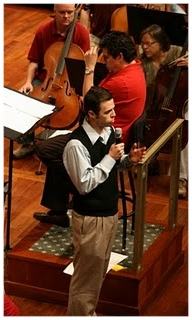 Daniel (F) on stage with Giancarlo Guererro (R) and the Nashville Symphony.