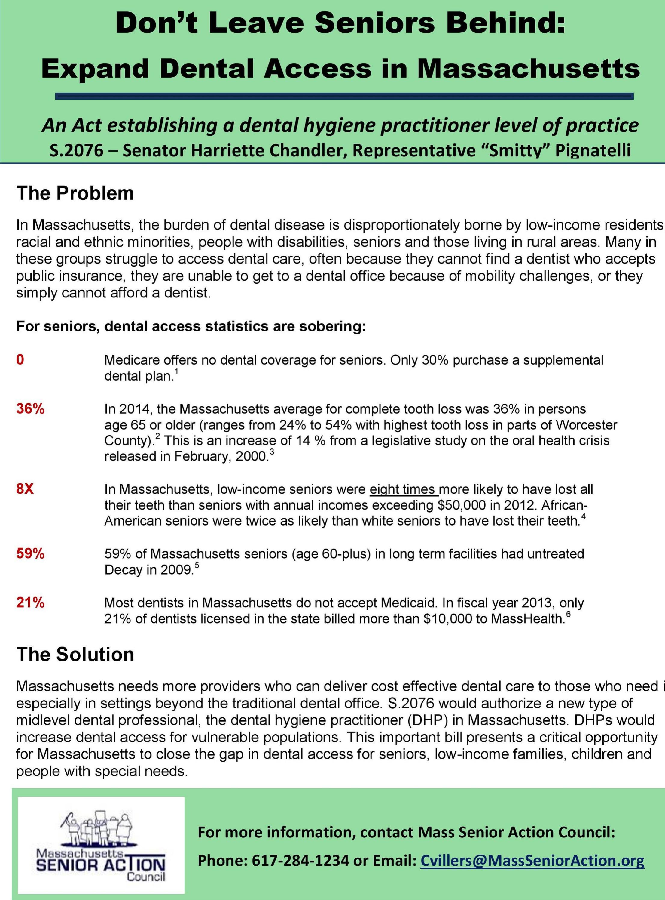 Dental Access Campaign  Fact Sheet (PDF)