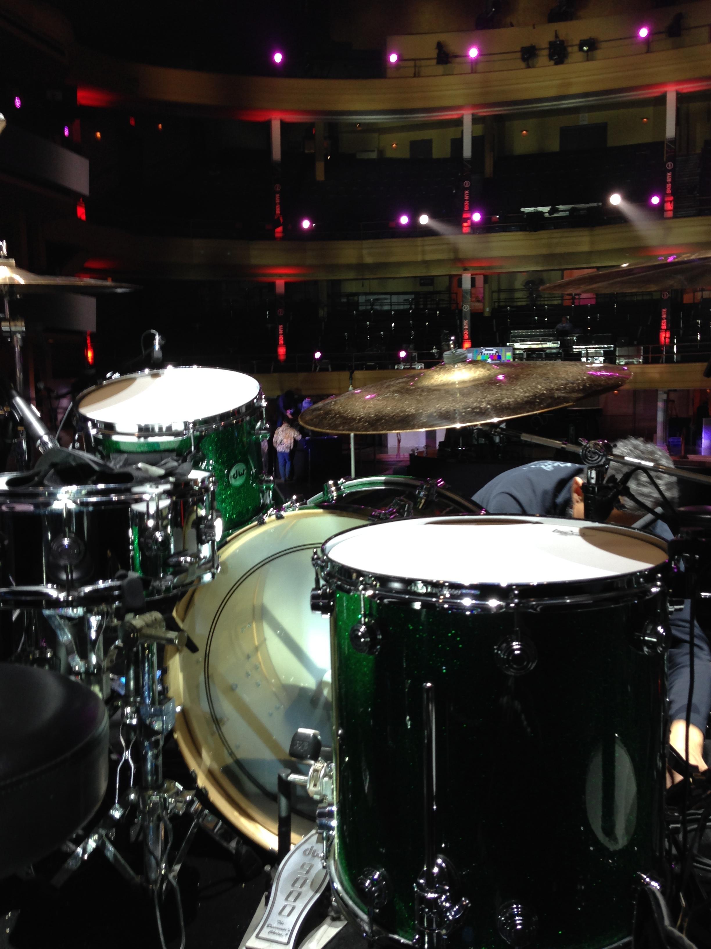 Sound check at Hammerstein Ballroom New York City