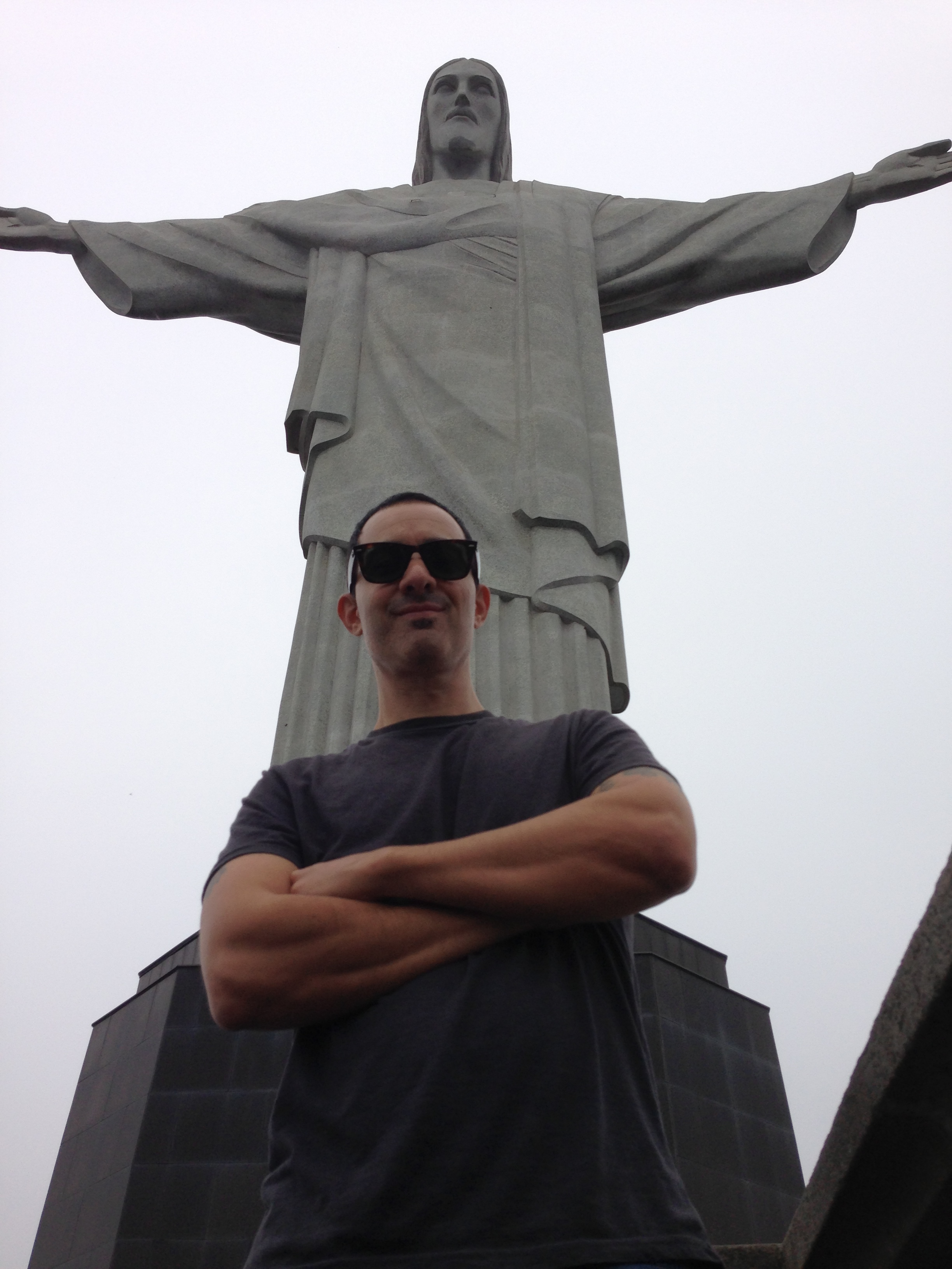 Sightseeing at the Christ the Redeemer stature Rio de Janeiro, Brazil 2013