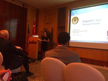 US Charge d'Affaires, Stephanie Syptak-Ramnath addressing the delegation