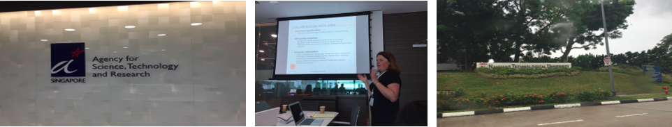 Ustar's Executive Director, Ivy Estabrooke presenting at A*STAR. The Nanyang Technological University.