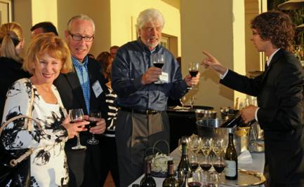 private wine tasting reception sommalier event function