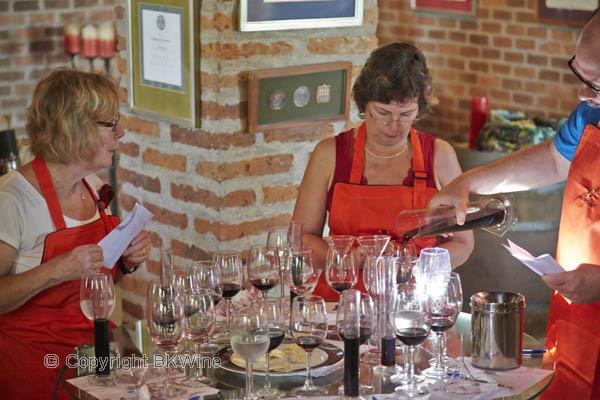 team building workshop class seminar wine blending taste test blind tasting