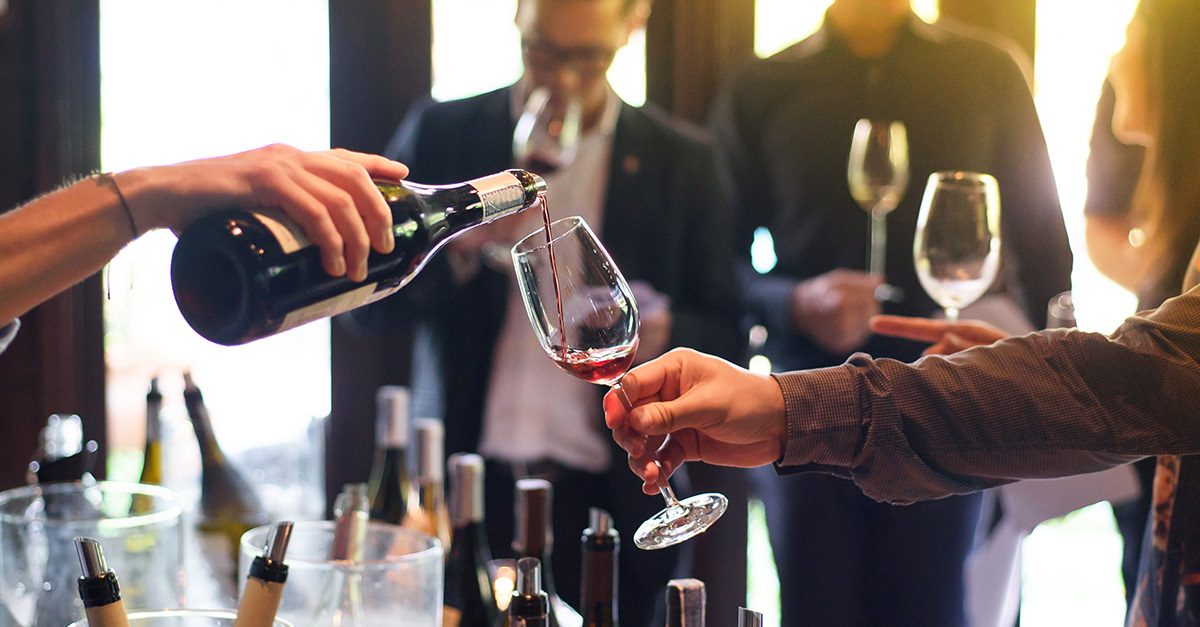 Wine Tasting Reception with Sommelier Station
