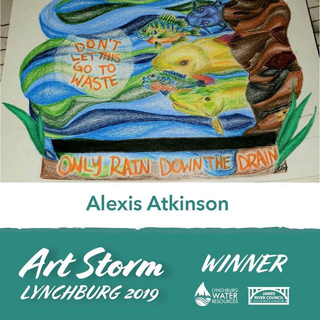 Congrats to our six ArtStorm 2019 winners! Be on the lookout during the month of October for these artists to be working on storm drains along Fifth Street in downtown with @lynchburgh2o! #artstormlyh #artstormlyh2019 #jamesriverarts #publicart #stormdrain #lynchburgh2o #onlyraindownthedrain