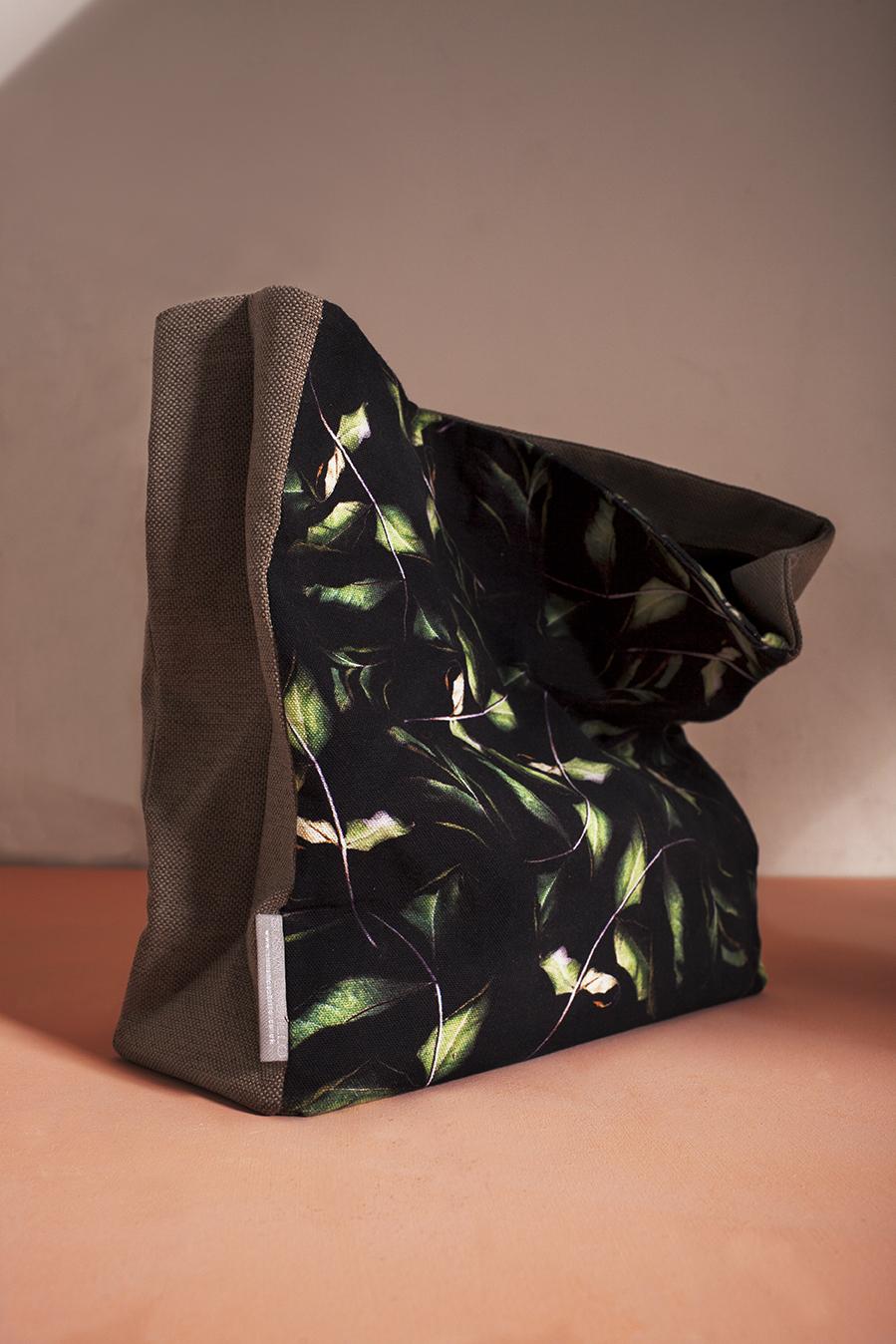 Rose Leaf  Large paper Bag Style Clutch
