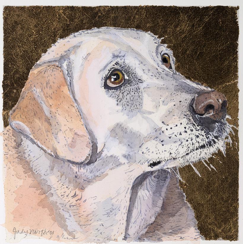 """Claire  Watercolor 15""""x 15"""""""