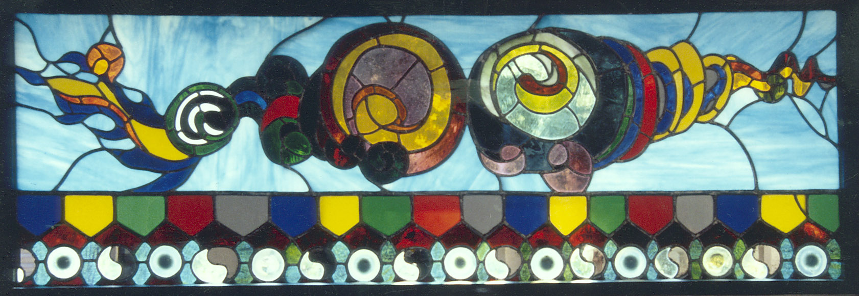 Nepal (1976)   Leaded Glass, Private Collection