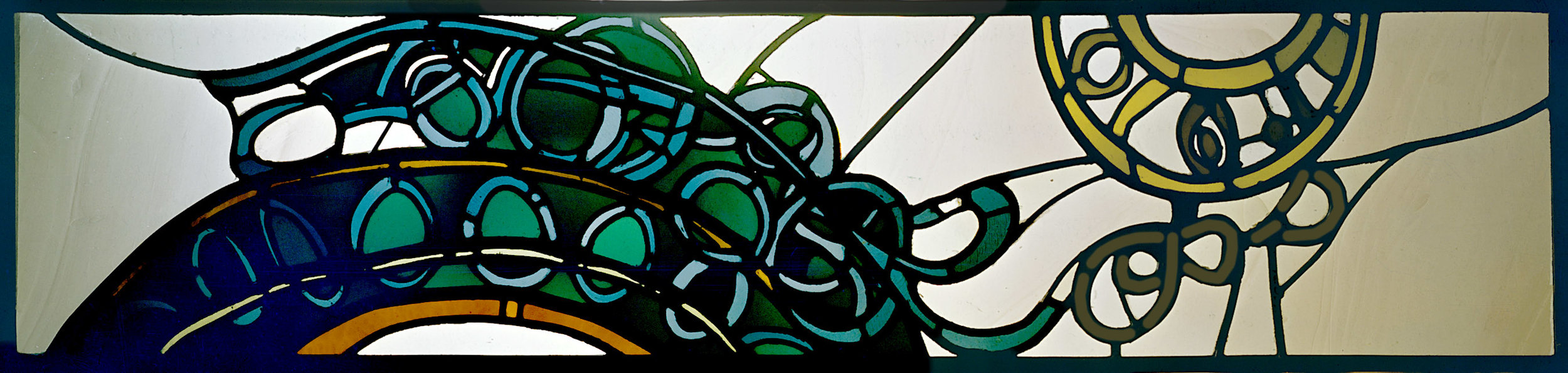 Muir Beach (1976)   Leaded Glass, Private Collection
