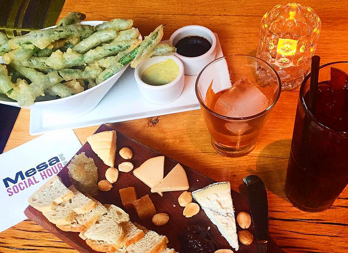Classic Cocktails and Appetizers $7 during Happy Hour   photo courtesy of Mesa on Instagram