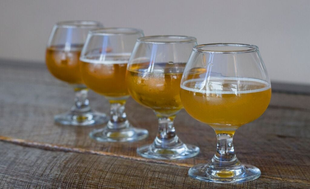 Beer Flights $9 during Happy Hour   photo courtesy of Kayla Glass Photography